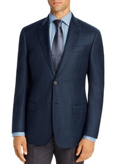 Emporio Armani Plain-Weave Virgin Wool Regular Fit Blazer