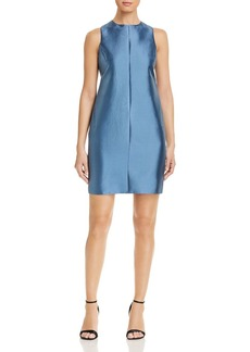Emporio Armani Pleated-Back Mini Dress