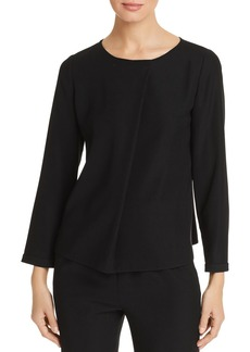 Emporio Armani Pleated-Front Top