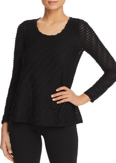 Emporio Armani Pleated Long-Sleeve Top