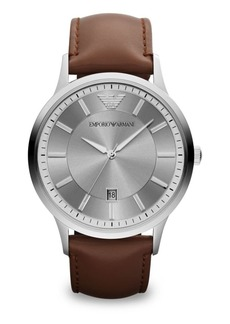 Armani Polished Stainless Steel Watch