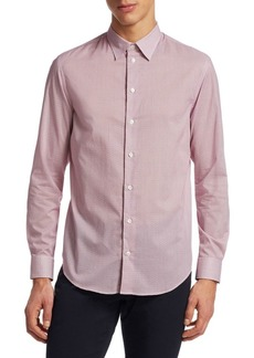 Armani Printed Cotton Button-Down Shirt