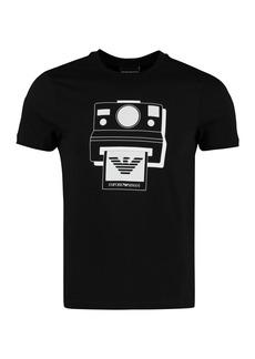 Emporio Armani Printed Cotton T-shirt