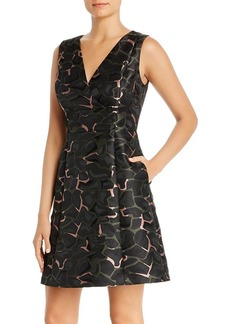 Emporio Armani Printed Fit-and-Flare Mini Dress