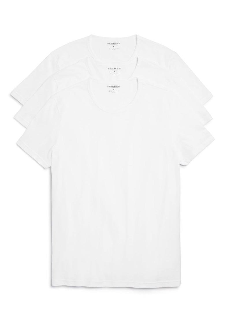 Emporio Armani Pure Cotton Crewneck T-Shirts - Pack of 3