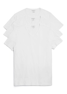 Emporio Armani Pure Cotton V-Neck T-Shirts - Pack of 3