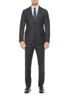 Emporio Armani Regular Fit Blue Wool Blend Suit