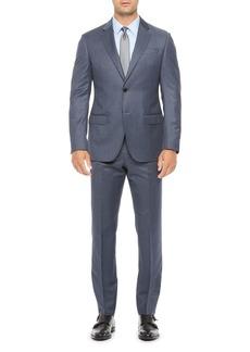 Emporio Armani Regular Fit Blue Wool Suit