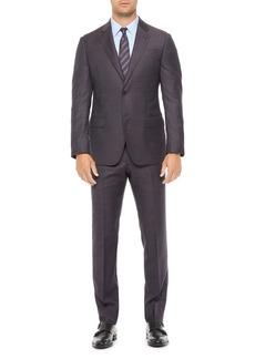Emporio Armani Regular Fit Purple Wool Blend Suit