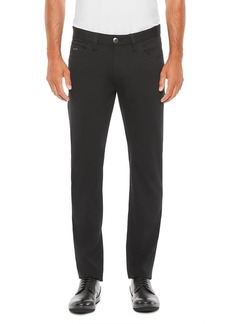 Emporio Armani Regular Fit Solid Black Trousers