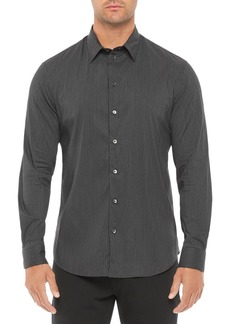 Emporio Armani Regular Fit Solid Cotton Blend Shirt