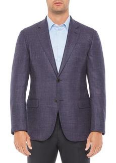 Emporio Armani Regular Fit Solid Light Wool Blend Jacket