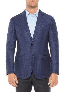 Emporio Armani Regular Fit Wool Medium Solid Jacket