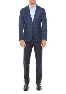 Emporio Armani Regular Fit Wool Plaid Jacket