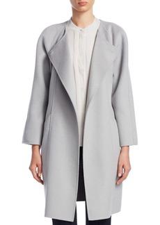 Roundneck Wool-Blend Coat