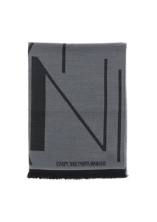 Emporio Armani Scarf Emporio Armani Scarf In Basic Blended Wool With Logo