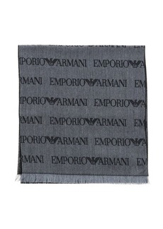 Emporio Armani Scarf Emporio Armani Scarf In Blended Wool With All Over Logo