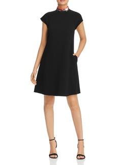 Emporio Armani Sequined-Collar A-Line Dress