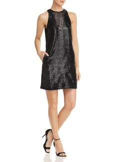 Emporio Armani Sequined Mini Dress