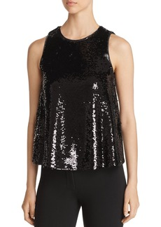 Emporio Armani Sequined Sleeveless Top