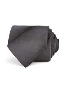 Emporio Armani Shadow-Stripe Silk Classic Tie