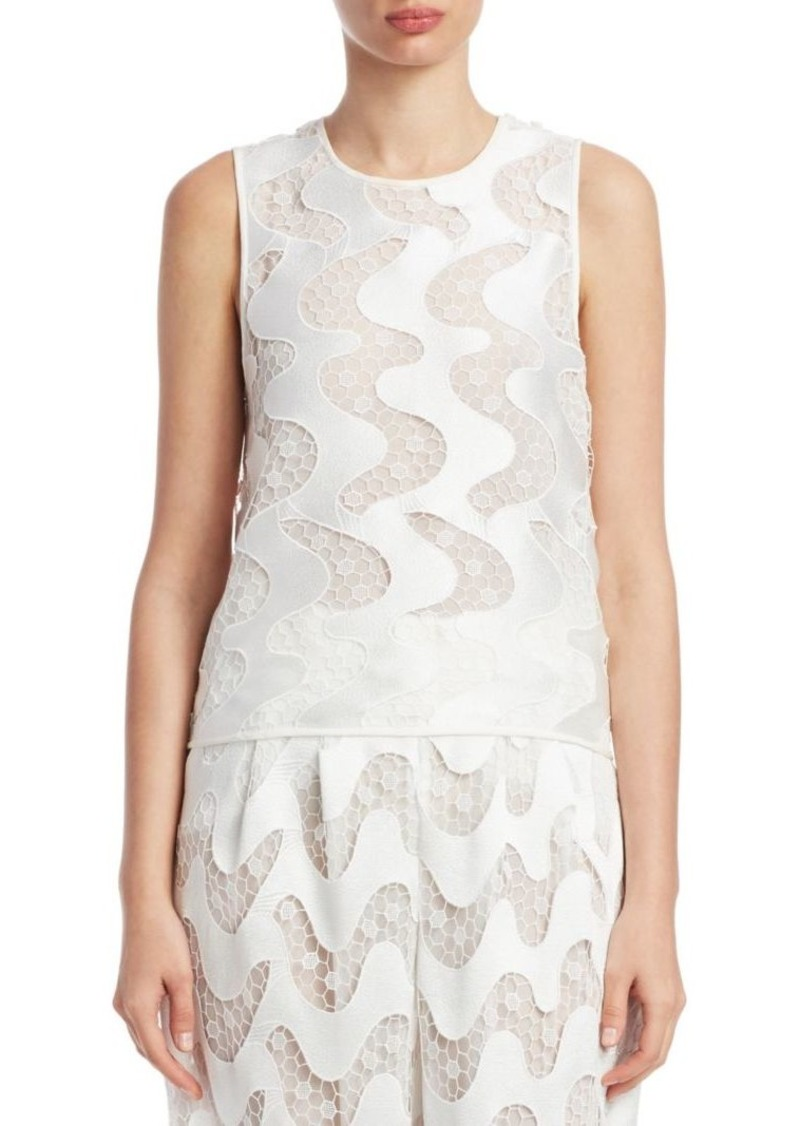 Armani Sheer Wave Sleeveless Top