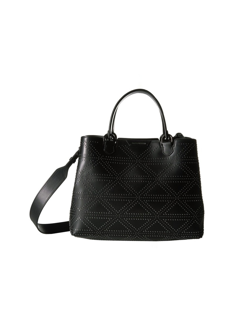 Armani Shopping Vacchetta+Borchie - Medium Shopping  a818929bbe1cf