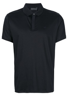 Emporio Armani short sleeved polo shirt - Black