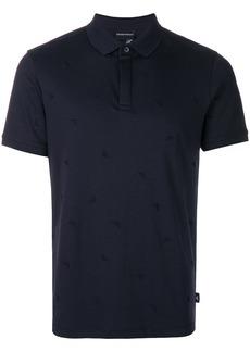 Emporio Armani short sleeved polo shirt - Blue