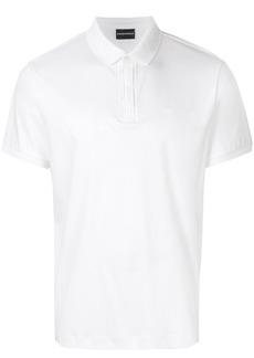 Emporio Armani short sleeved polo shirt - White