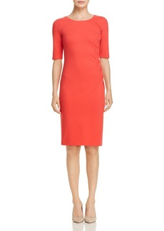 Emporio Armani Side Ruched Scoop Neck Dress