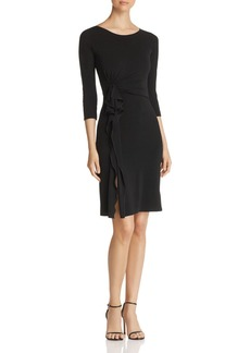 Emporio Armani Side Ruffled A-Line Dress