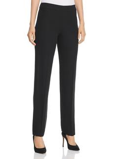 Emporio Armani Side-Zip Straight-Leg Pants