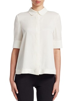 Armani Silk Button-Front Blouse