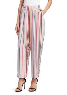 Armani Silk Candy Stripe Pants