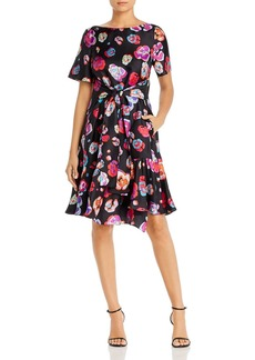 Emporio Armani Silk Floral Print Dress