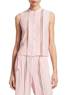 Armani Silk Stripe Top