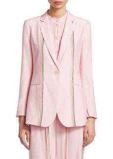 Silk Striped Fluid Jacket