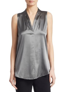 Armani Silk V-Neck Blouse