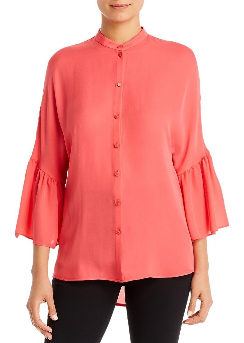 Emporio Armani Silk Wide-Sleeve Blouse