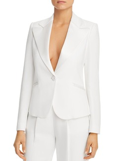 Emporio Armani Single-Button Peak-Lapel Blazer