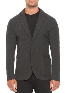 Emporio Armani Slim Fit Wool Blend Solid Dark Jacket