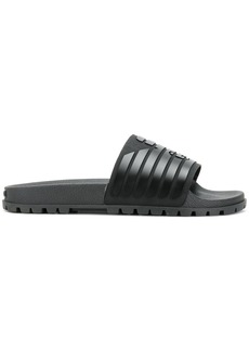 Armani ribbed logo slides
