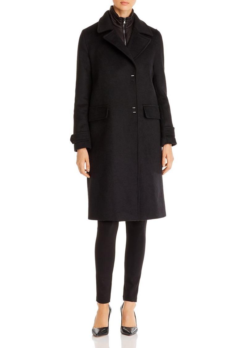 Emporio Armani Snap-Front 2-in-1 Coat & Vest