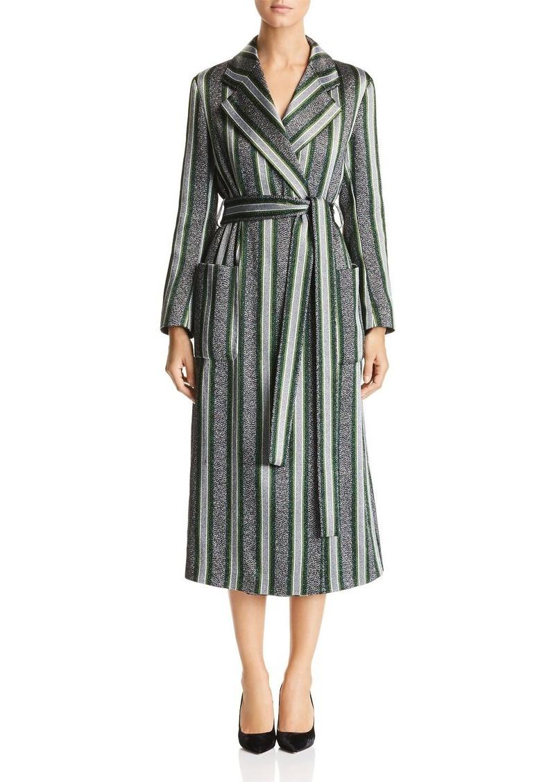 Emporio Armani Sparkling Metallic Striped Coat