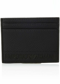 Emporio Armani Stamped Logo Credit Card Holder black