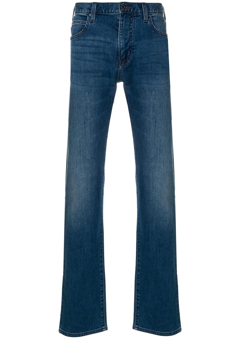 Armani stonewashed straight leg jeans