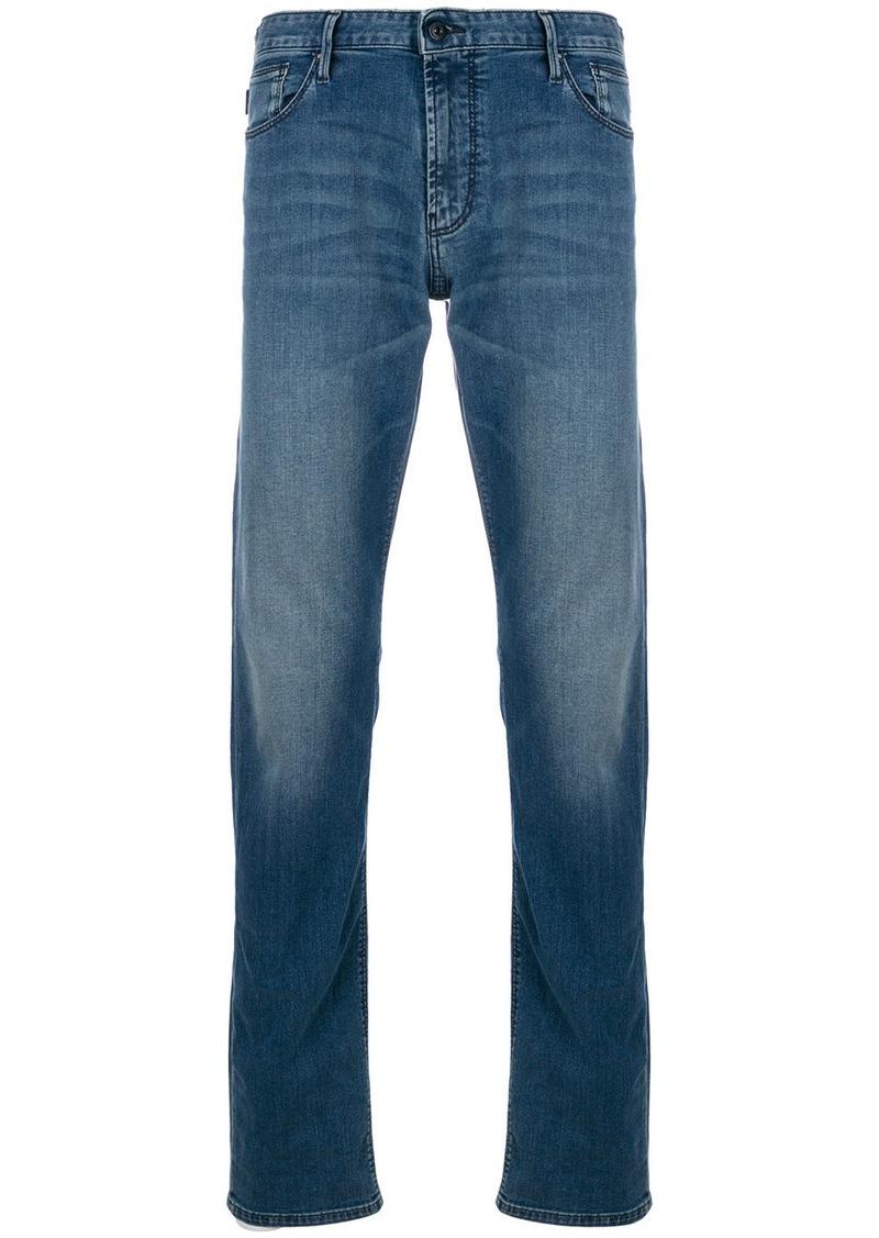 Armani straight leg stonewashed jeans