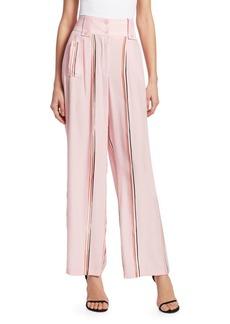 Armani Striped Fluid Silk Pants