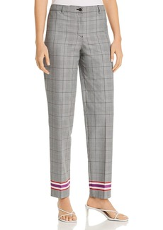 Emporio Armani Striped Hem Plaid Pants